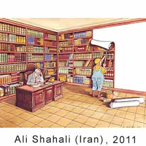 Ali Shahari (Iran), International Book Cartoon Contest, Iran, 2011